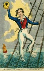 Woman Sailor climbing the rigging